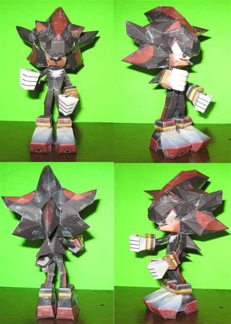 Shadow Papercraft - shadow the hedgehog the papercraft by technodrumguy on