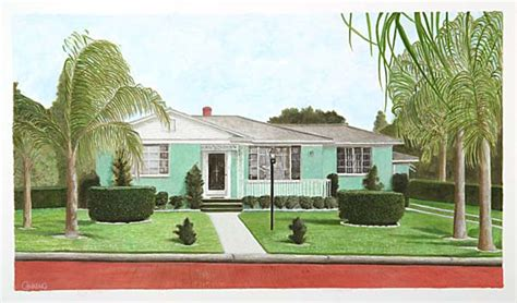 50s house canning 50 s house architectural for giclee prints