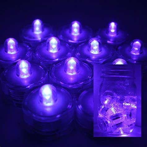 Waterproof Tea Lights by Purple 12 Led Submersible Waterproof Wedding Floral