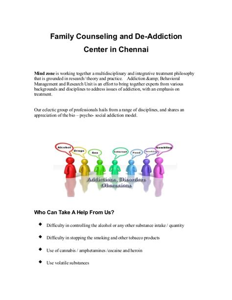 Delaware Management And Detox Center by Family Counseling And De Addiction Center In Chennai
