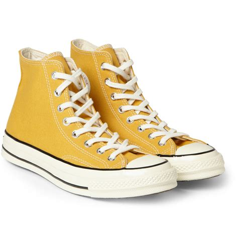 yellow high top sneakers converse chuck canvas high top sneakers in yellow