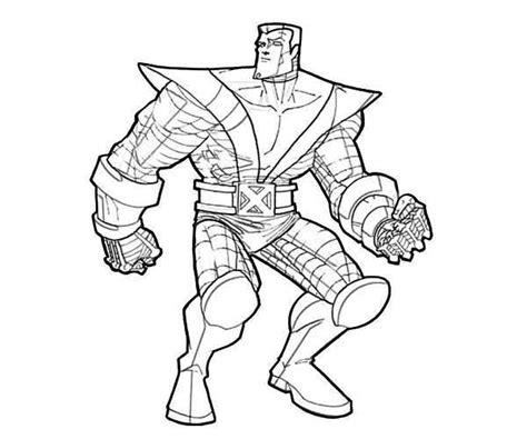 coloring pages for wolverine free desenho de colossus de para colorir tudodesenhos