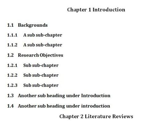 dissertation chapter structure why is there not a single doctoral thesis outline or