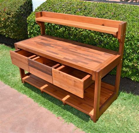 potting bench home depot attractive minimalist brown wood color potting table with