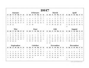 Year Calendar Template by 2017 Yearly Blank Calendar Template Free Printable Templates
