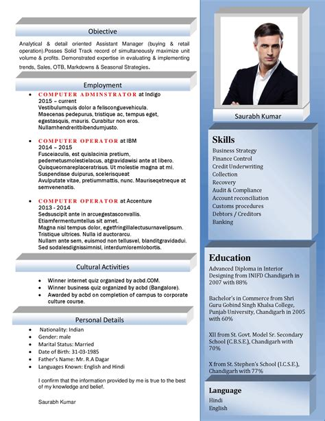cv format latest 2015 generous latest it resume format 2015 images entry level