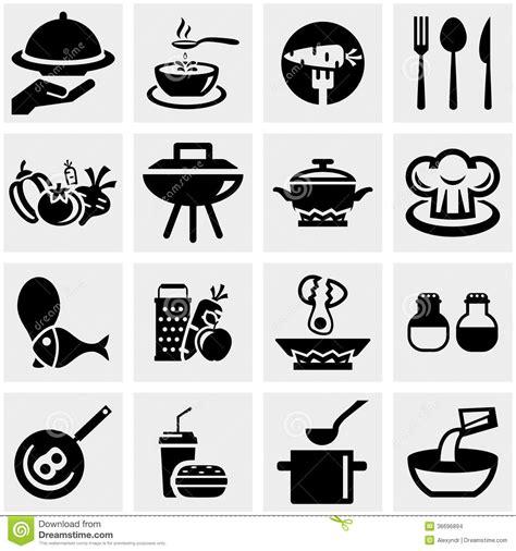 imagenes vectores cocina la cocina y cocinar iconos del vector fijaron en gris