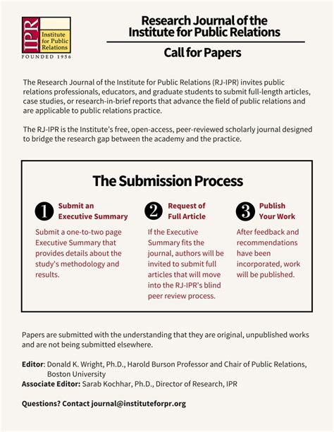 journal of business research call for papers research journal of the institute for relations