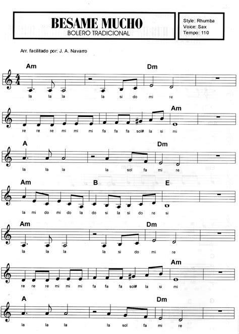 Música A Cura da Alma: Partitura Besame Mucho Simplificado
