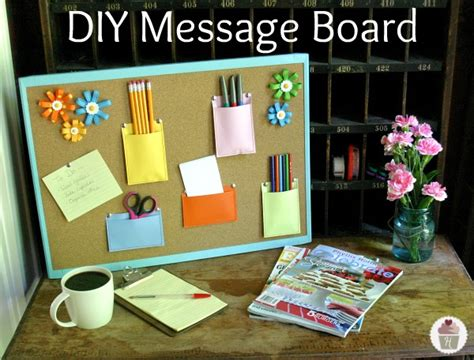 diy office projects diy message board hoosier