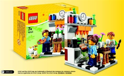 Lego Seasonal 40121 Painting Easter Eggs lego easter 40121 set fully revealed photos
