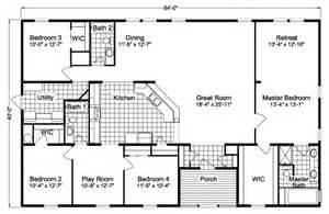 Double Wide Mobile Home Floor Plans sierra iii tl40644b manufactured home floor plan or