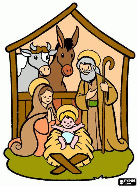 imagenes del nacimiento de jesus en dibujos animados pesebre grande para colorear pesebre grande para imprimir
