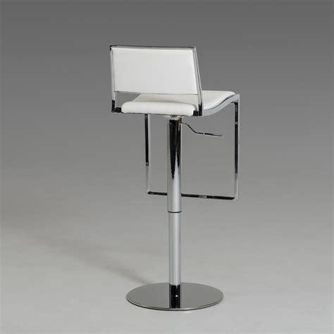 modern white bar stools modrest joanie modern white bar stool