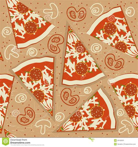 seamless pattern food pizza seamless pattern vector food background stock image