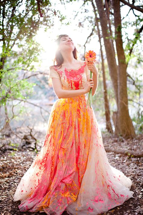 trash the dress austin wedding photographers trash the dress with paint