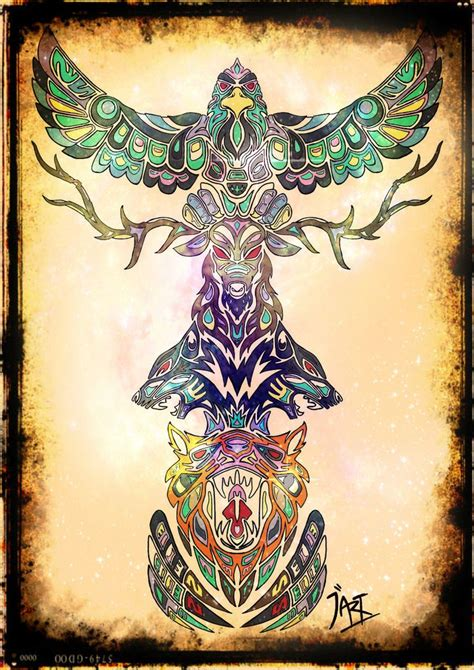 totem pole tattoo totem pole print cool stuff for my house