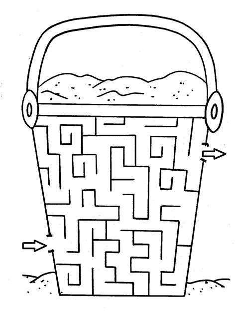 printable maze color free coloring pages 4