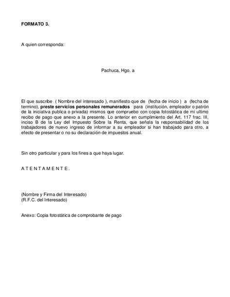 modelo carta de ingresos carta prestaci 243 n de servicios