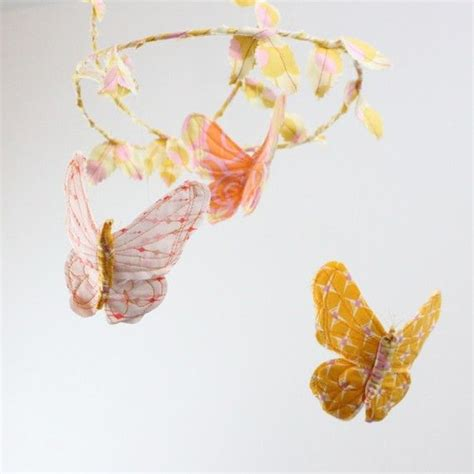 Handmade Butterfly Decorations - gorgeous the freestyle stitching butterfly mobile