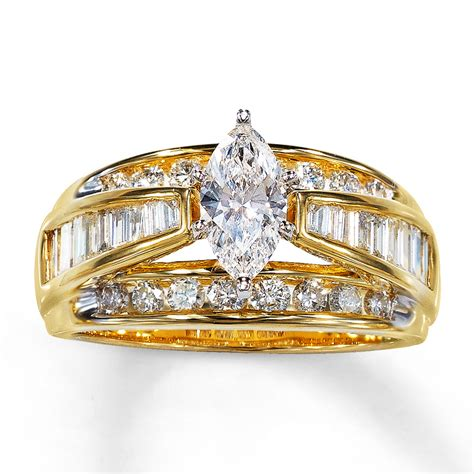 engagement ring 1 1 2 cttw marquise cut 14k
