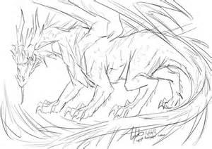 hunter s dragon sketch by nesokaiyoh on deviantart