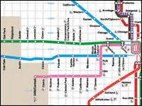Chicago Blue Line Map by Cta Train Lines Map Bing Images