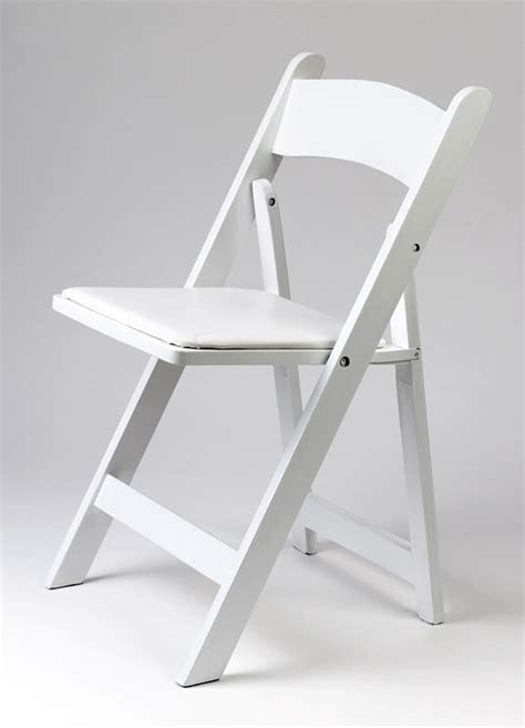 White Wood Folding Chairs by Chairs All Occasions Rentals