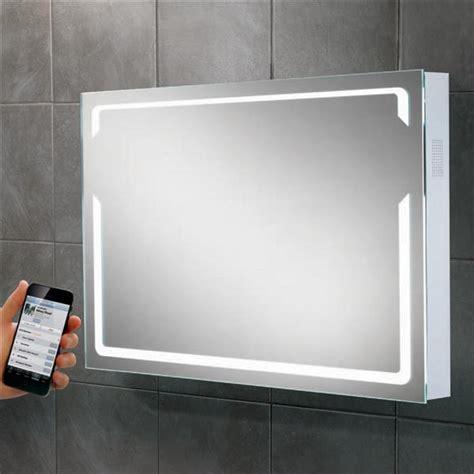 backlit led bathroom mirror hib pulse led backlit bluetooth connectivity bathroom