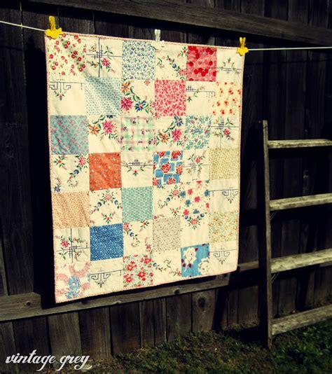 Vintage Patchwork Quilt - vintage grey a vintage patchwork quilt