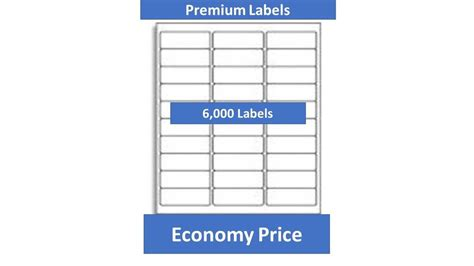 6000 laser ink jet labels 30up address compatible with