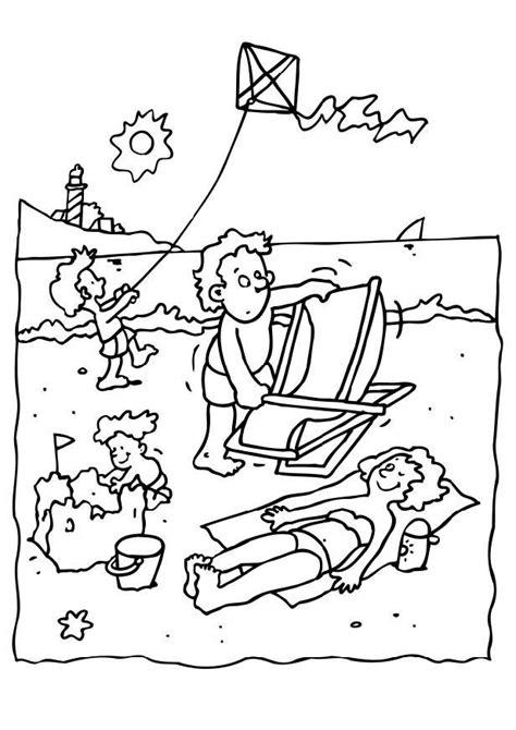 imagenes de las vacaciones para colorear dibujo para colorear vacaciones en la playa img 8069