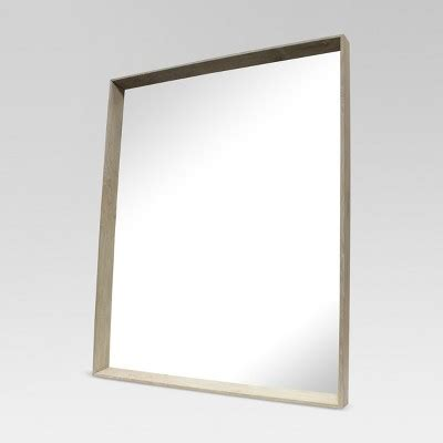 target mirrors square ash decorative wall mirror brown threshold target