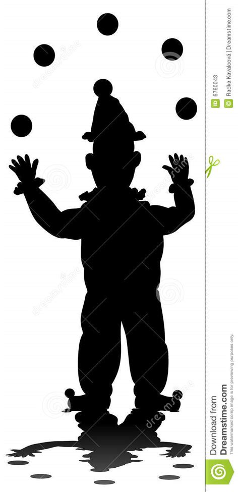 3d Kitchen Design Tool silhouette of juggling clown stock photos image 6760043