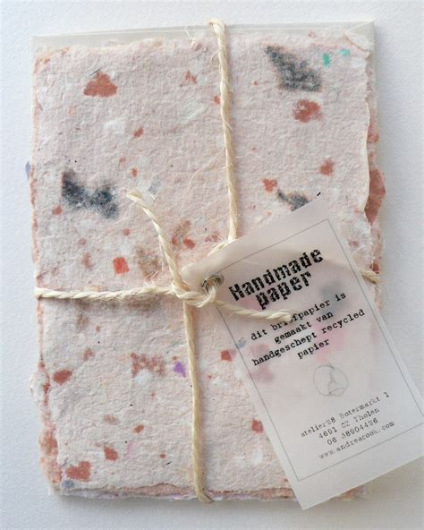 Handmade From Paper - upcycle recycle reuse recycled handmade paper