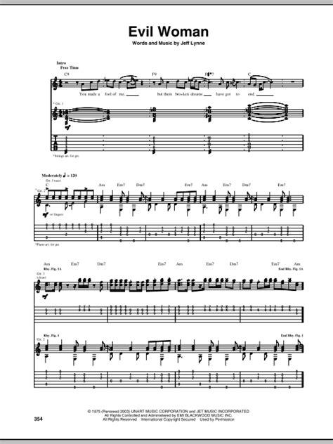 evil woman electric light orchestra lyrics evil woman sheet music direct