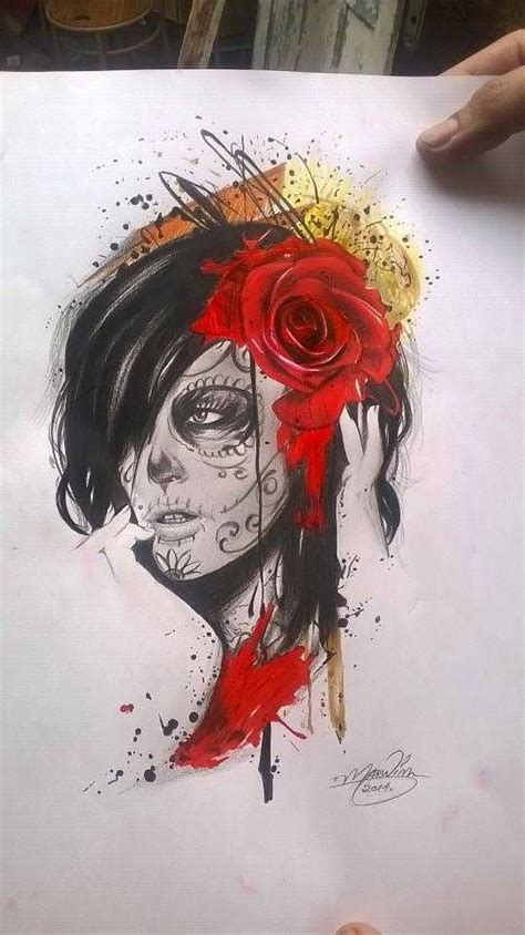 catrina tattoo my drawing pinterest tattoo tatting
