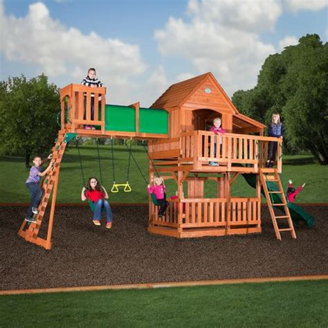 Backyard Discovery Swing Set by Backyard Discovery Prairie Ridge Wooden Swing Set Academy