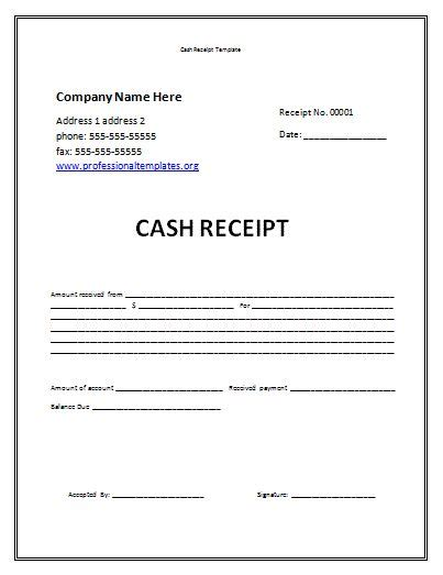 Template For Money Receipt by Receipt Template Free Receipt Template