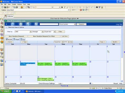 Calendar With Organization An Organizational Calendar In Lotus Notes Tracker Suite