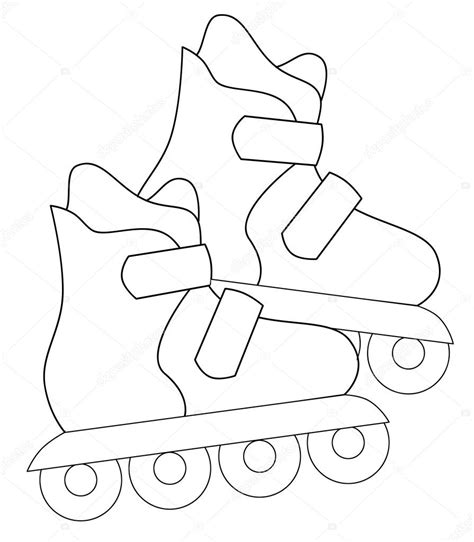 roller skates coloring page stock photo 169 agaes8080