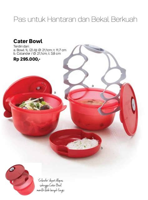 Stok Terbatas Compact Bowl High 4 Tupperware Serbaguna 087837805779 jual tupperware 2017 promo november katalog