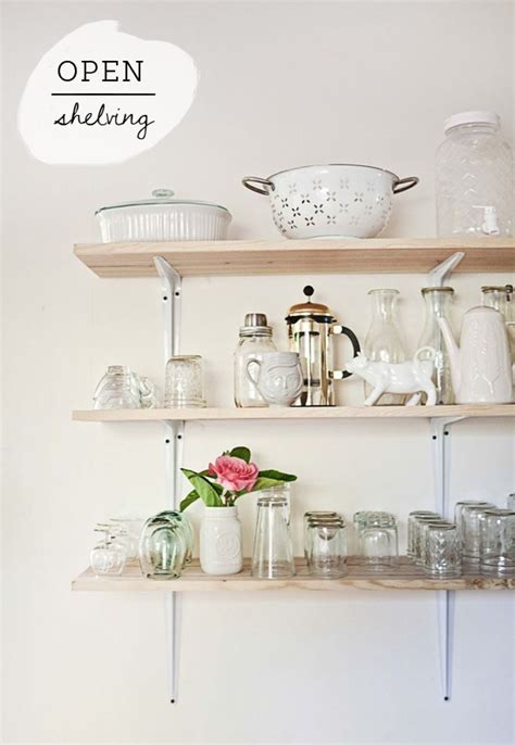 tips for stylishly stocking that open kitchen shelving 28 open kitchen shelving tips and small kitchen