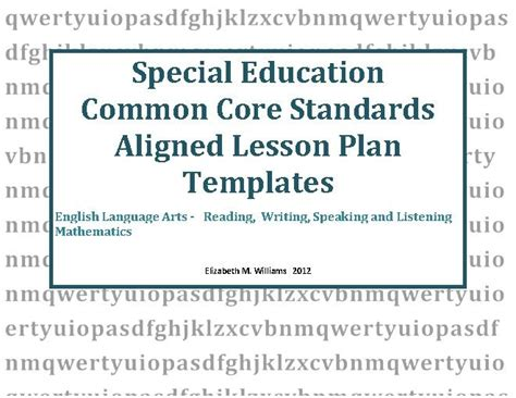 special education templates pin by lingo on lesson plans