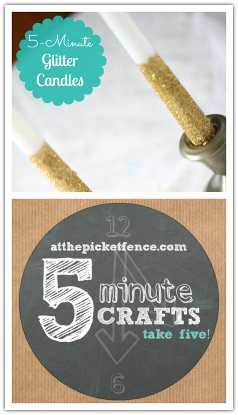 5 minute crafts for five minute crafts glitter candles at the picket fence