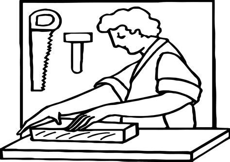 carpenter art coloring page wecoloringpage