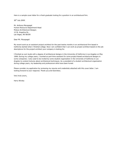 [ Architecture Firm Cover Letter Internship Architect