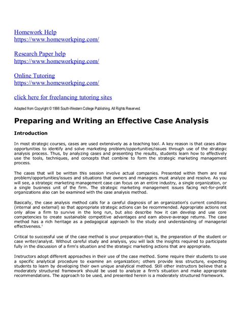 different thesis about education case study analysis recommendations