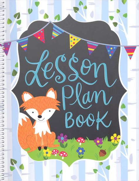 design cover lesson lesson plan book woodland friends 043271 details