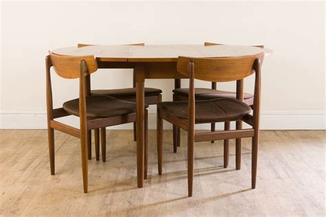 G Plan Vintage Retro Drop Leaf Teak Dining Table And 4 G Plan Teak Dining Table